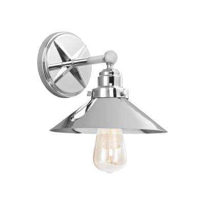 Hooper 1-Light Chrome Wall Sconce