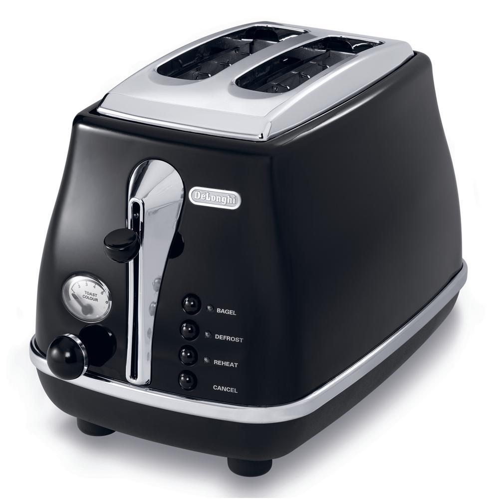 Icona 2-Slice Black Toaster