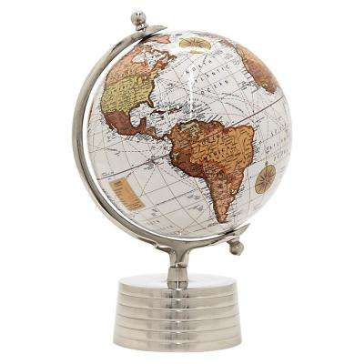 15.5 in. x 12 in. Nickel Globe