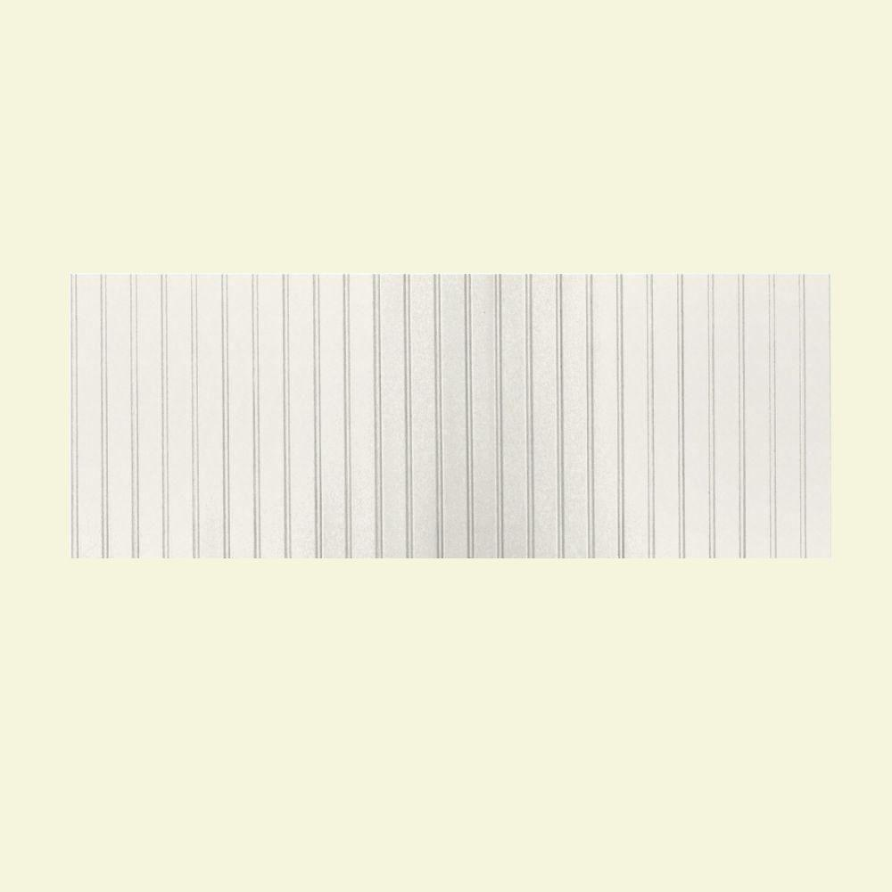 Swanstone 8 ft. x 3 ft. Beadboard One Piece Easy Up Adhesive Wainscot in Tahiti Ivory-DISCONTINUED