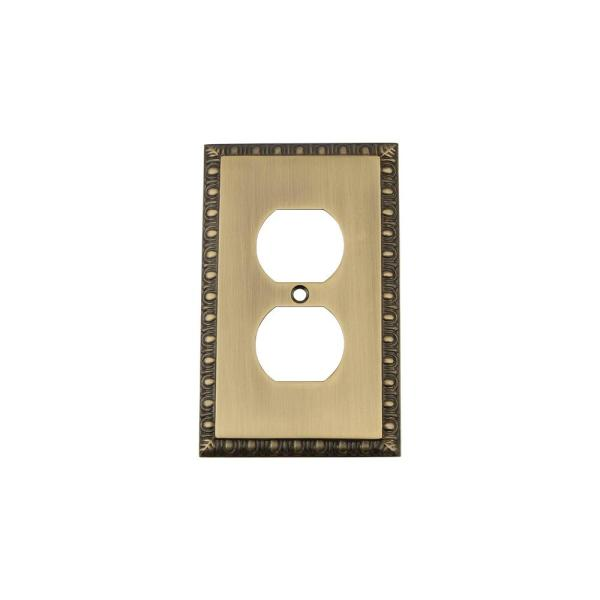 Brass 1-Gang Duplex Outlet Wall Plate (1-Pack)