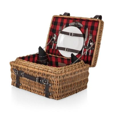 13-Piece Willow Champion Picnic Basket and (Set for 2)