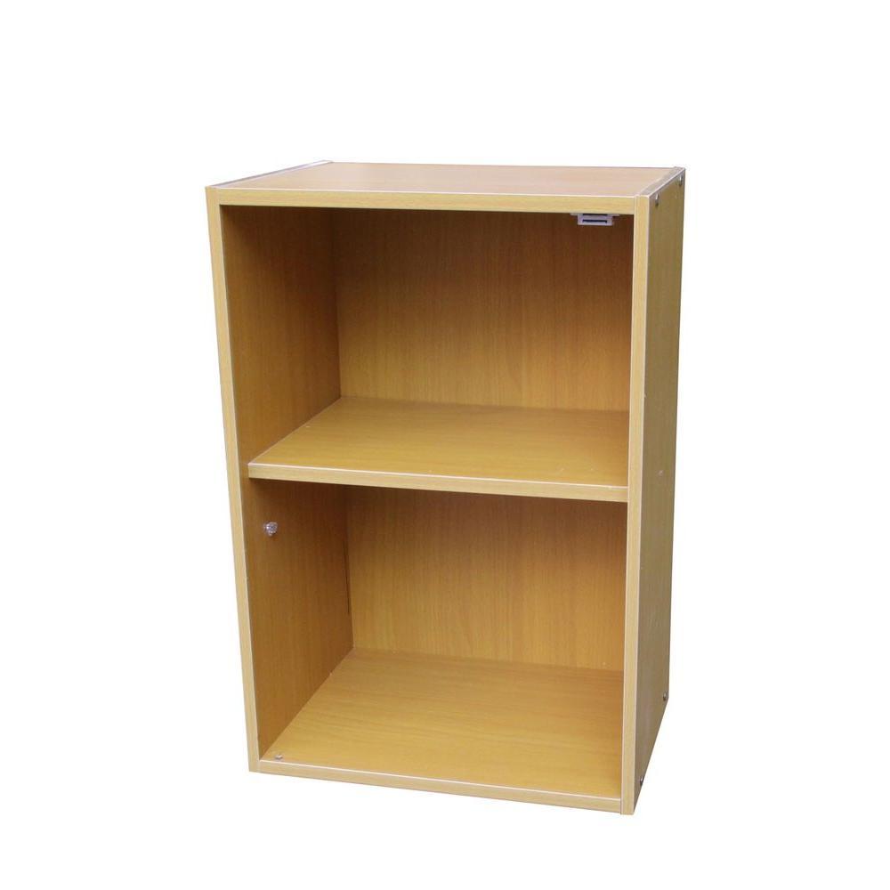 Beige Adjustable Open Bookcase