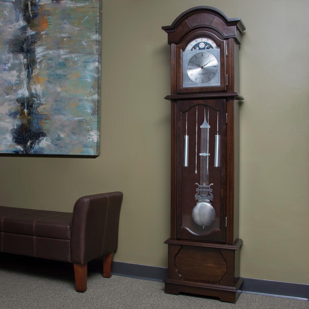 FirsTime 72 in  Espresso Grandfather Clock 31017 - The Home