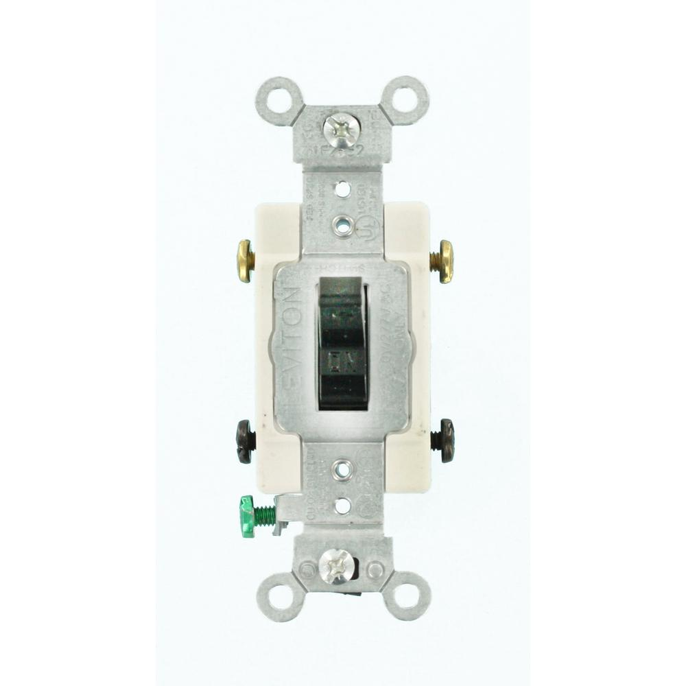 Leviton 20 Amp Commercial Grade 3Way Toggle Switch BlackCS3202E