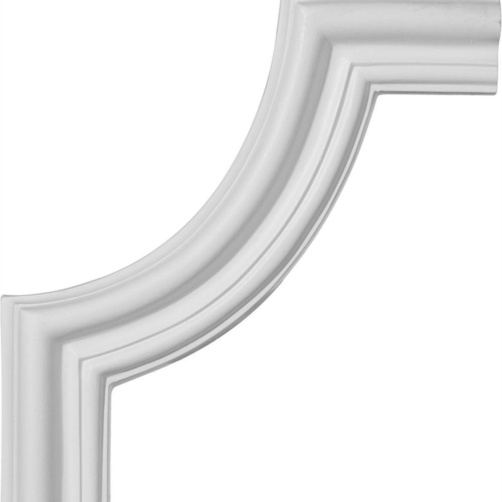 Ekena Millwork 3/4 in. x 10-1/2 in. x 10-1/2 in. Polyurethane Seville Panel Moulding Corner