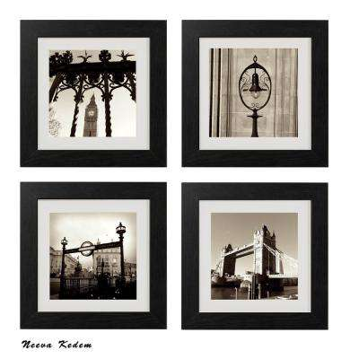 "Four 10 in. x 10 in. ""London Tea Time"" by Neeva Kedem Framed Printed Wall Art"