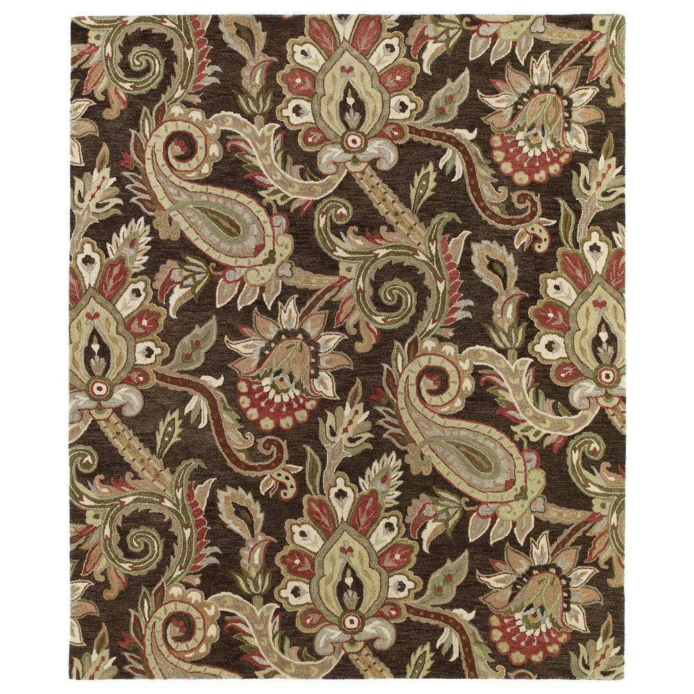 Kaleen Helena Turquoise Area Rug Reviews: Kaleen Helena Odyusseus Chocolate 10 Ft. X 14 Ft. Area Rug