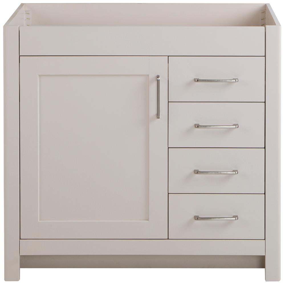 Home Decorators Collection Westcourt 36 in. W x 21 in. D x 34 in. H Bath Vanity Cabinet Only in Cream