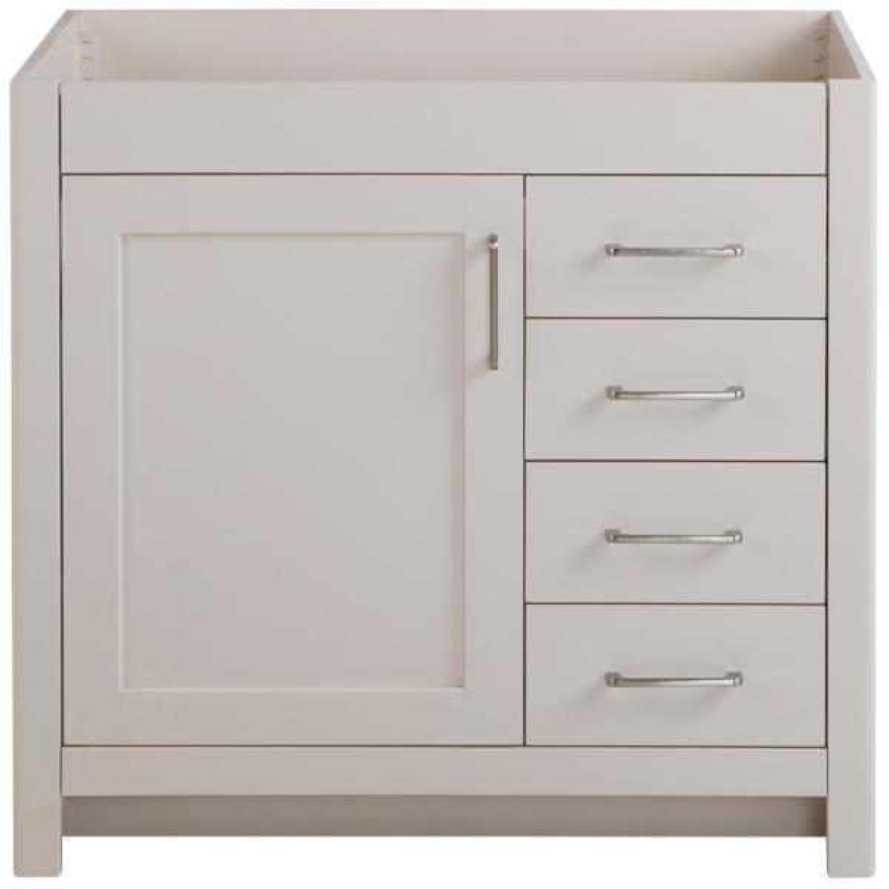 Westcourt 36 in. W x 21 in. D x 34 in. H Bath Vanity Cabinet Only in Cream