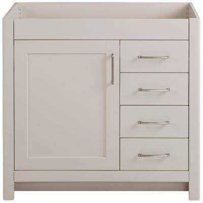 Westcourt 36 in. W x 21.69 in. D x 34.25 in. H Bath Vanity Cabinet Only in Cream