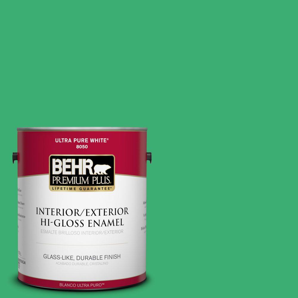 1-gal. #460B-5 Fresh Greens Hi-Gloss Enamel Interior/Exterior Paint