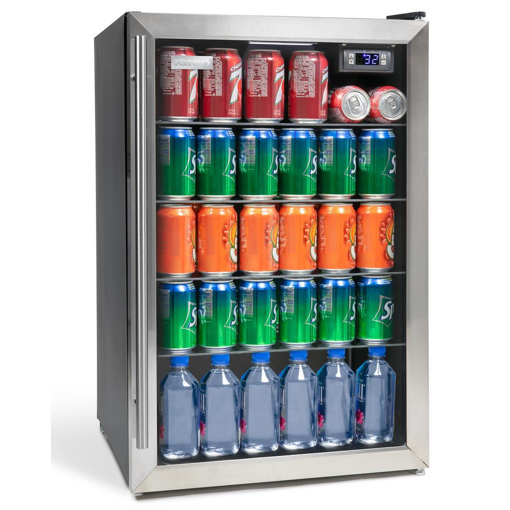 IGLOO 4.1 cu. ft. Stainless Steel Beverage Cooler