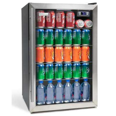 4.1 cu. ft. Stainless Steel Beverage Cooler