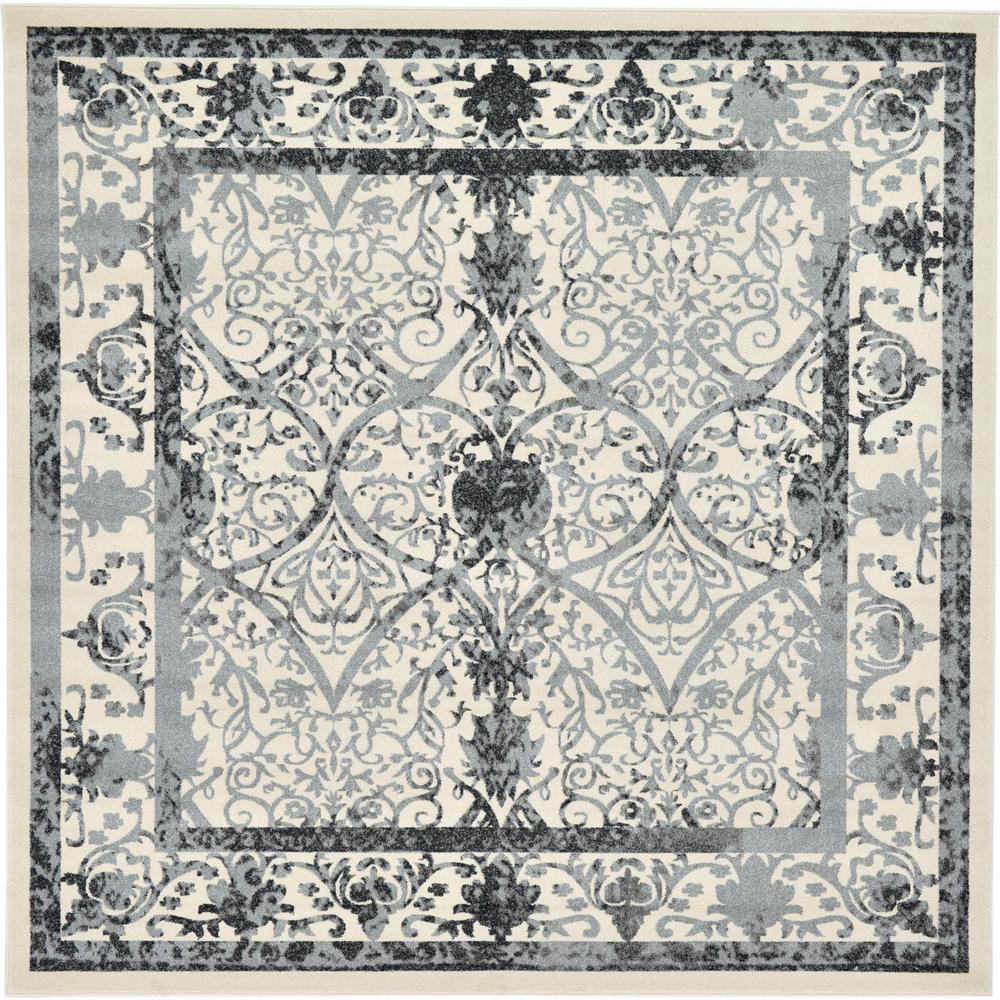 Unique Loom La Jolla Ivory 10 X 10 Square Rug 3120560 The Home Depot