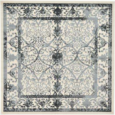 Ivory 10 ft. x 10 ft. La Jolla Square Area Rug