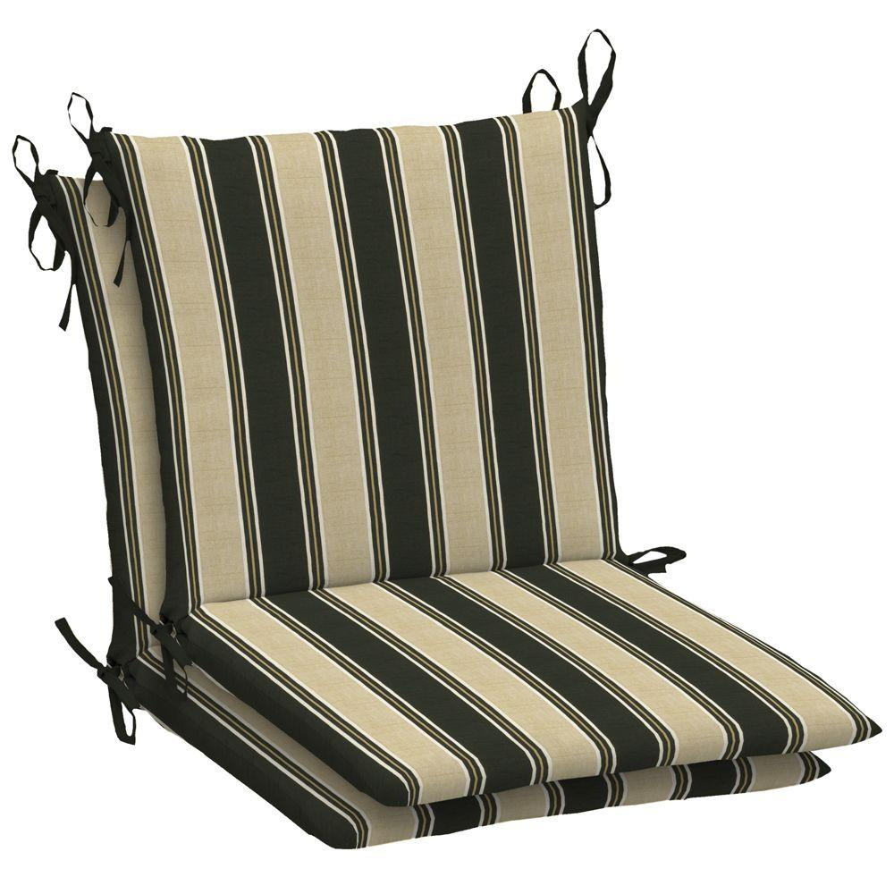 Arden Twilight Stripe Mid Back Outdoor Chair Cushion (2-Pack)-DISCONTINUED
