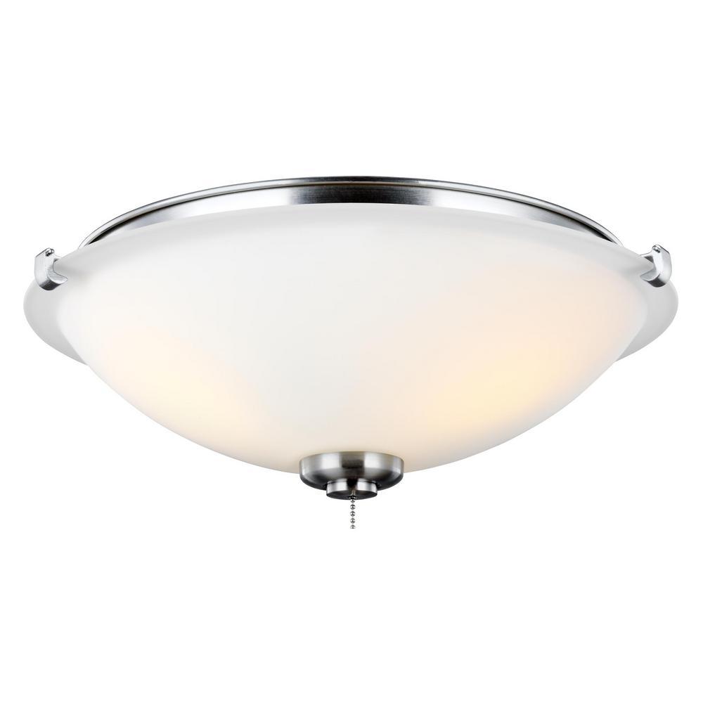 Monte Carlo 3 Light Led Ceiling Fan Light Kit Mc247bs