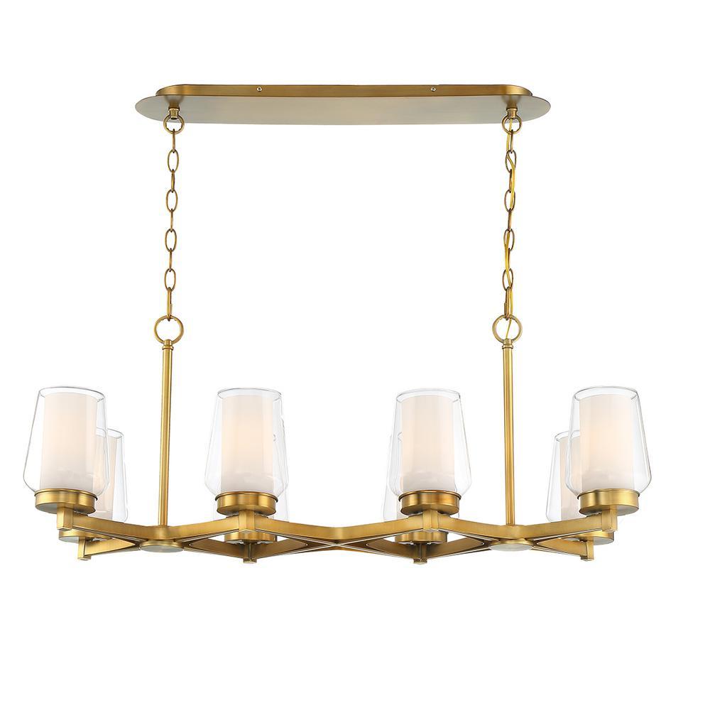 Manchester 8-Light Brass Chandelier