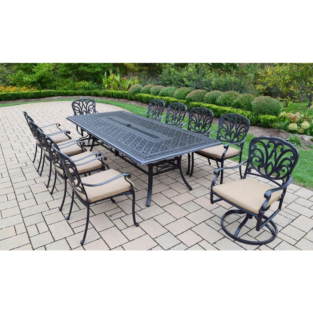 Giardino Collection Outdoor Dining: Hampton Bay Niles Park 7-Piece Sling Patio Dining Set-S7