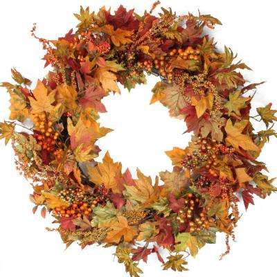 32 in. Autumn Harvest Artificial Wreath