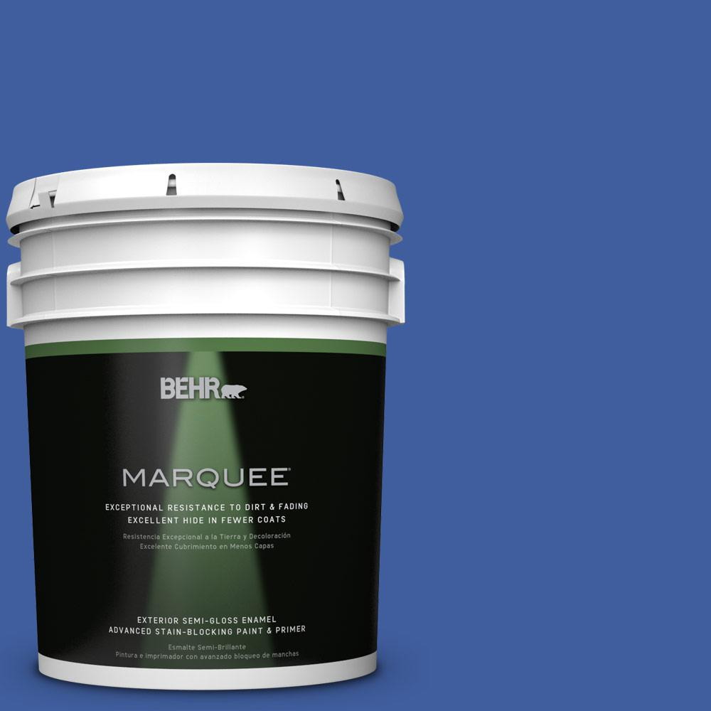 5 gal. #BIC-21 Blue Dahlia Semi-Gloss Enamel Exterior Paint