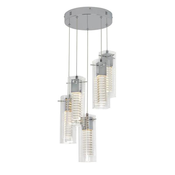 Hologram 25-Watt Integrated LED Chrome Pendant