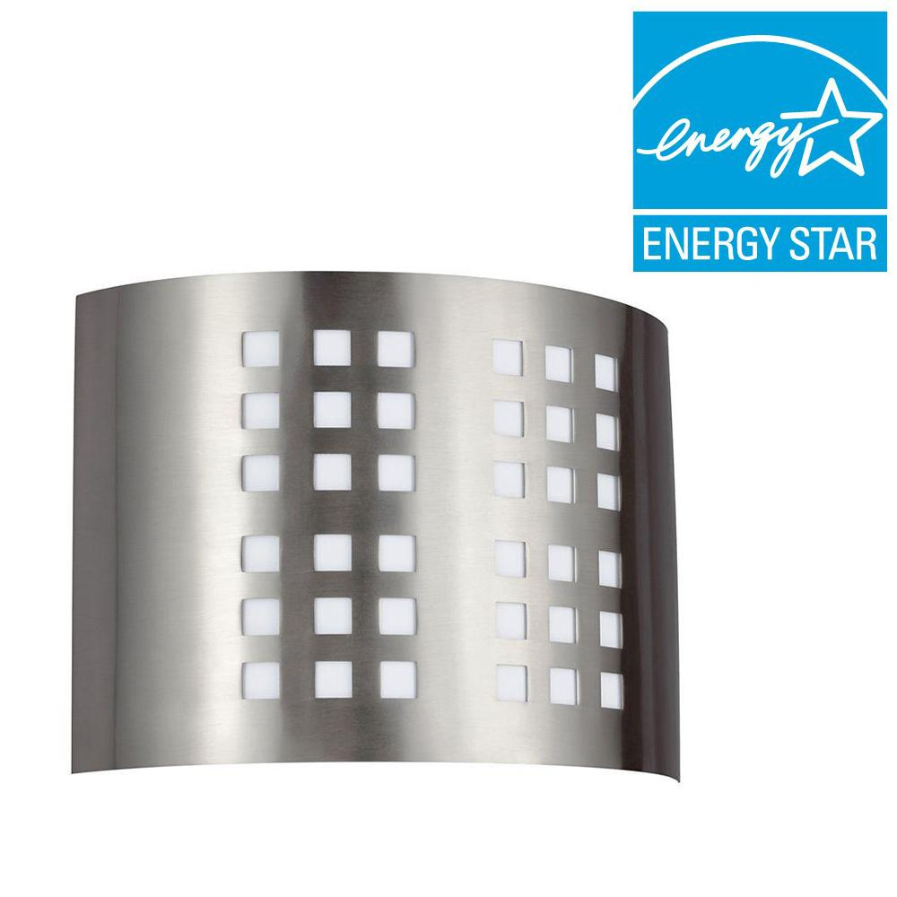 Sea Gull Lighting Grid 1-Light GU24 Brushed Nickel Sconce