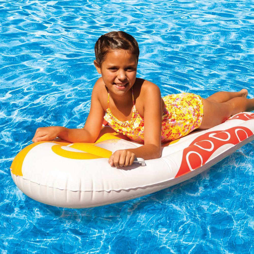 Poolmaster Orange Window Surfer Pool Mattress-DISCONTINUED