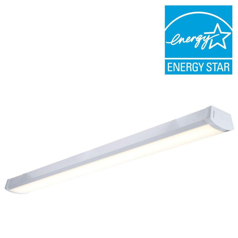 Lithonia Lighting Fmlwl 48 840 4 Ft White Led Flushmount Wraparound Light