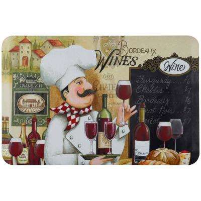Designer Chef Vino Chef 24 in. x 36 in. Anti-Fatigue Kitchen Mat