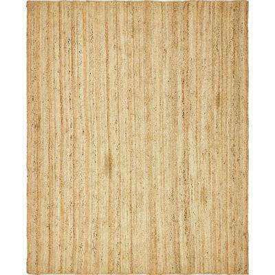 Braided Jute Natural 8 ft. x 10 ft. Area Rug