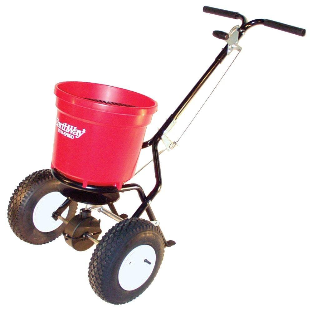 EARTHWAY Broadcast Spreader Push 50 lb. Capacity