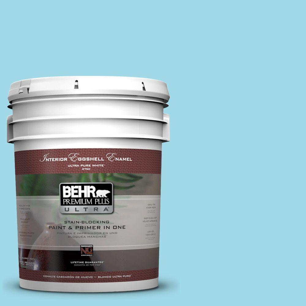 BEHR Premium Plus Ultra 5-gal. #520A-3 Nevada Sky Eggshell Enamel Interior Paint