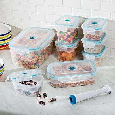 Vac 'n Save Food Storage Containers - Rectangular Set (17-Piece)