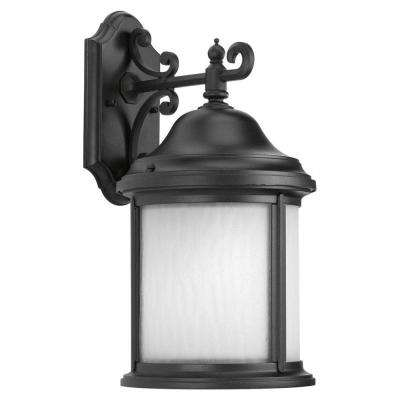 Ashmore Collection Black 17 in. Outdoor Wall Lantern Sconce