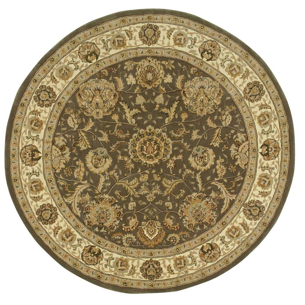 Nourison 2000 Slate 4 Ft X 4 Ft Round Area Rug 076069