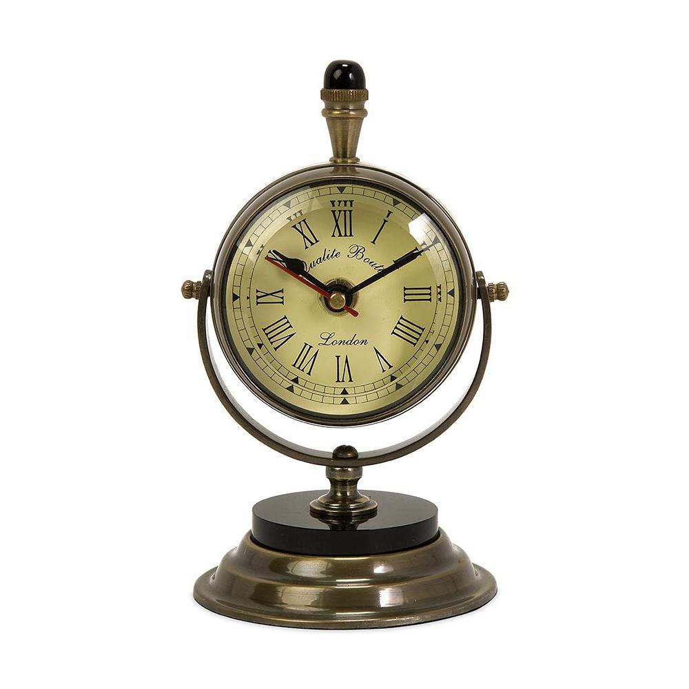 Home Decorators Collection Soren Antique Brass Table Clock - Home Decorators Collection Soren Antique Brass Table Clock