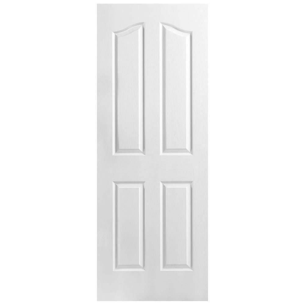 Masonite Textured 4-Panel Arch Hollow Core Primed Composite Interior Door Slab