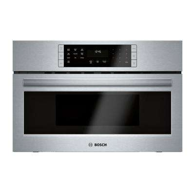 800 Series 30 in. 1.6 cu. ft. 240 Volt Built-In Convection Speed Microwave in Stainless Steel with SpeedChef Cooking