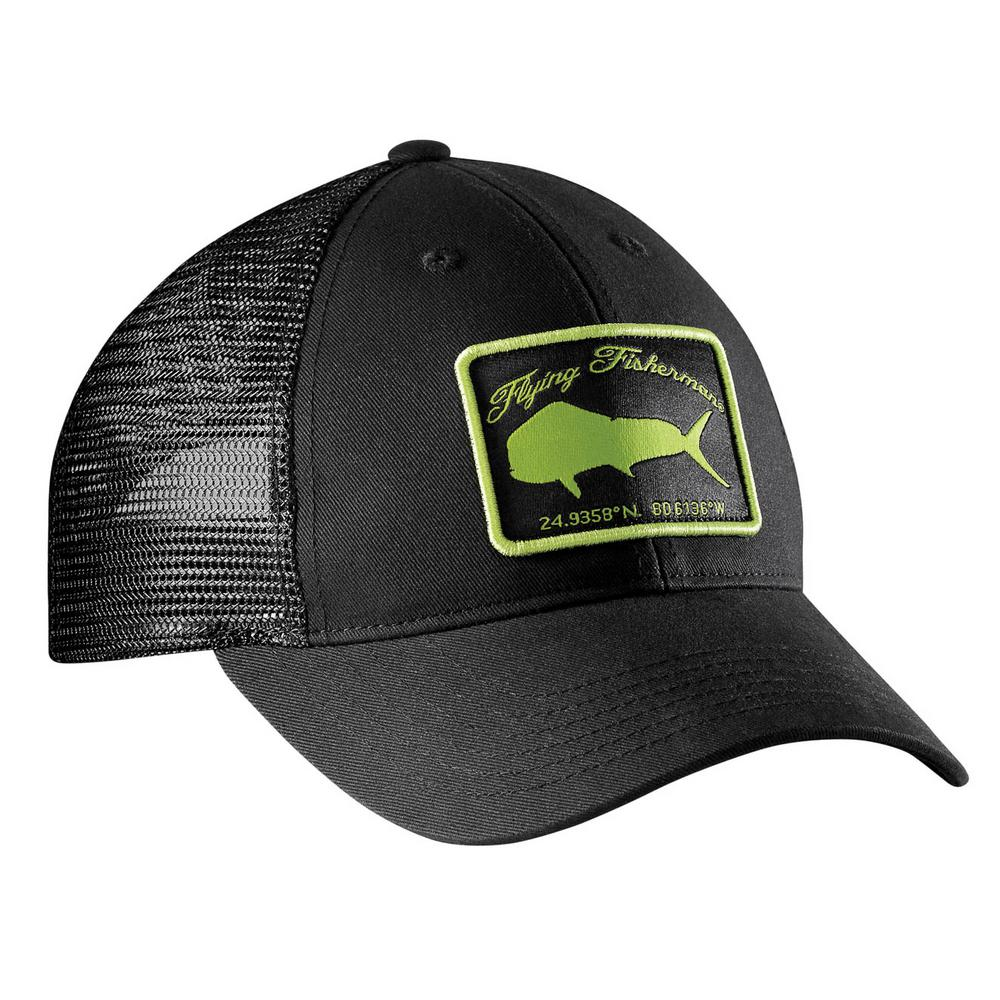 37b9c6805c4af Flying Fisherman Mahi Trucker Hat Black and Lime-H1765 - The Home Depot