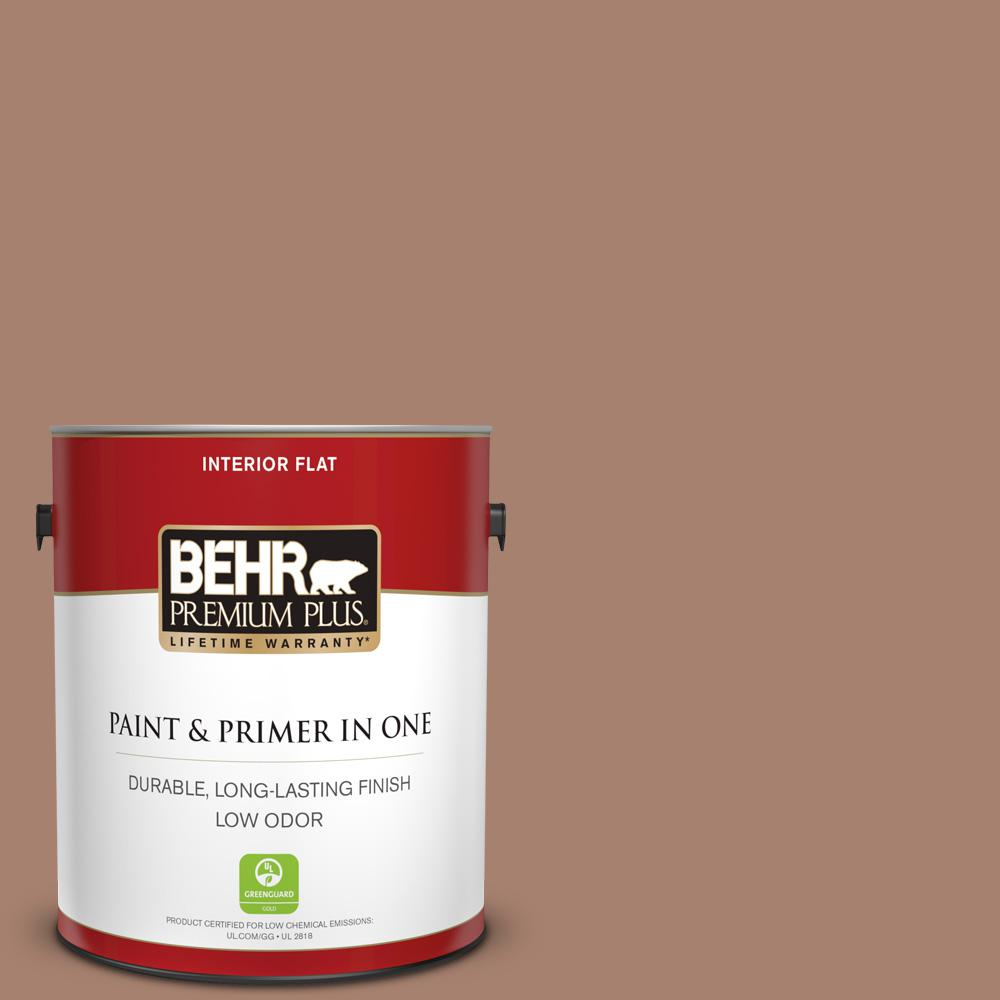 Reviews For Behr Premium Plus 1 Gal S190 5 Cocoa Nutmeg Flat Low Odor Interior Paint And Primer In One 140001 The Home Depot