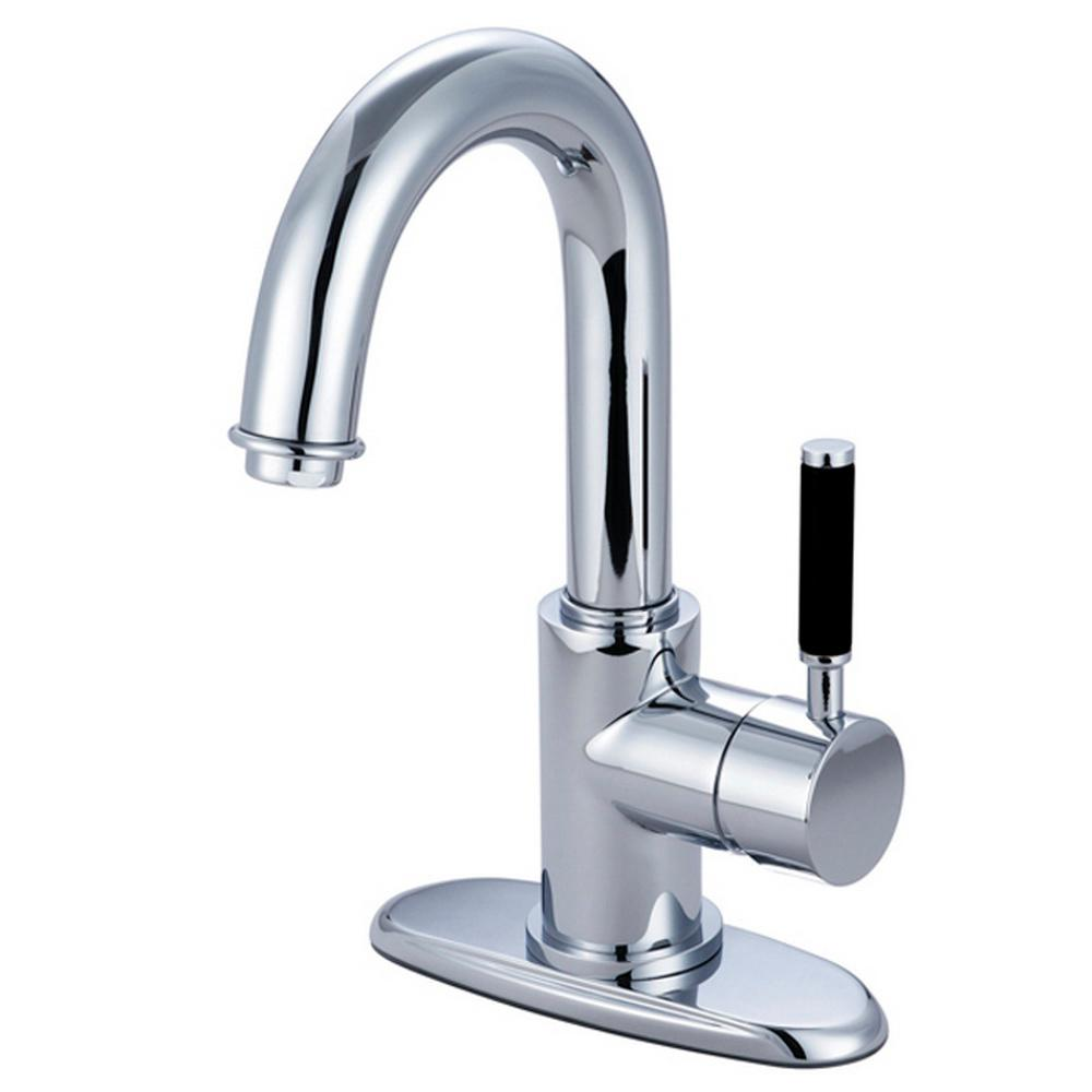 Kingston Brass Euro Single Hole Single-Handle Bathroom Faucet in Polished Chrome