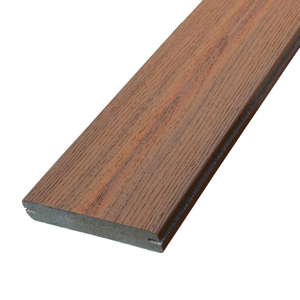 Fiberon Sanctuary 0 925 in  x 5-3/8 in  x 16 ft  Jatoba Grooved Edge Capped  Composite Decking Board