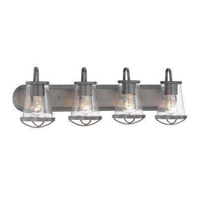 Darby 4-Light Weathered Iron Bath Light
