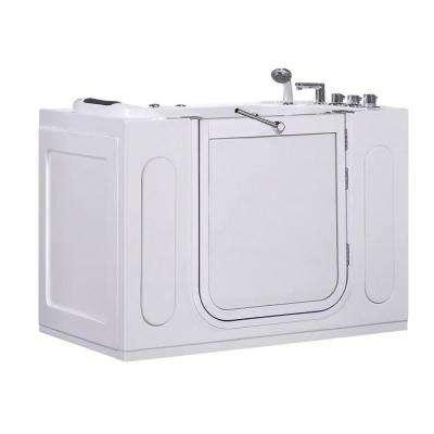 WT622 Right Drain 4.58 ft. Walk-In Whirlpool Bath Tub in White