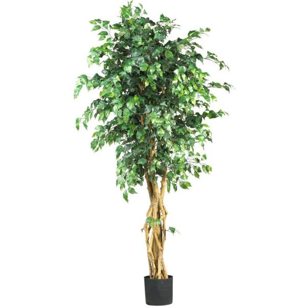 Nearly Natural 6 Ft Multi Trunk Silk Ficus Tree 5216 The Home Depot
