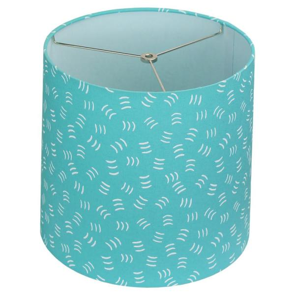 12 in. Top Diameter x 13 in. Bottom Diameter x 12 in. Cologne Aqua Slant Empire Lamp Shade