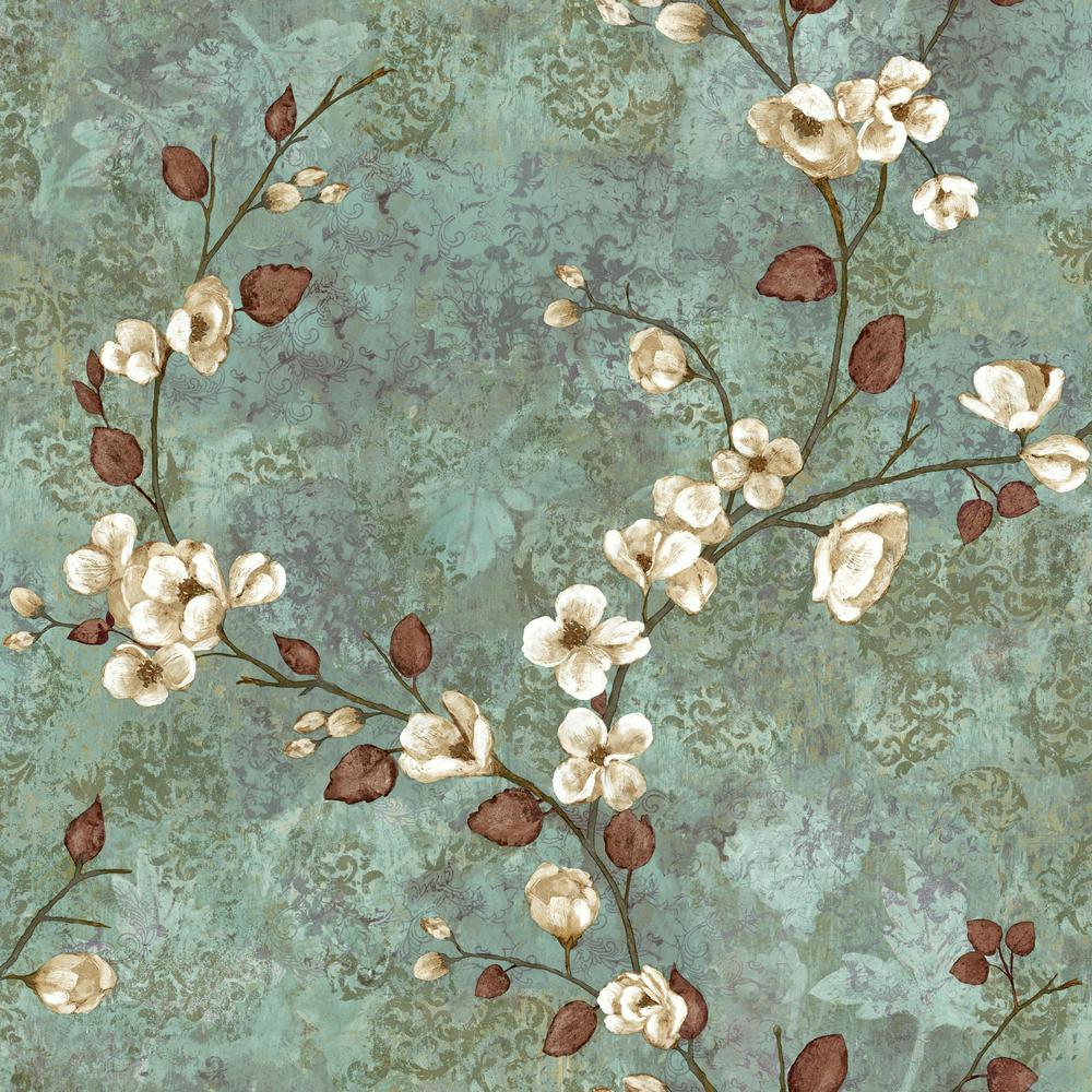 York Wallcoverings Charlotte Dogwood Wallpaper by York Wallcoverings