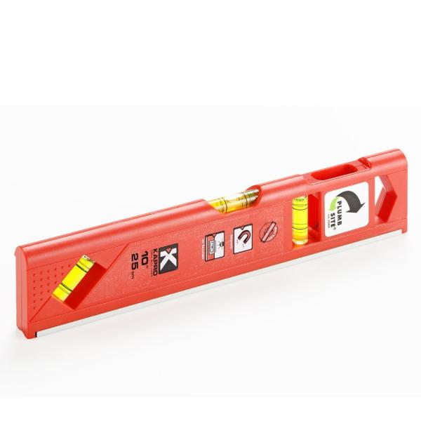 10 in. Magnetic Toolbox Level w/Plumb Site